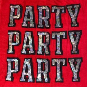 VS Pink Party Red Silver Bling Onesie Long Jane